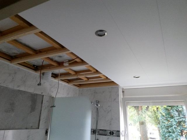 Plafond afwerking